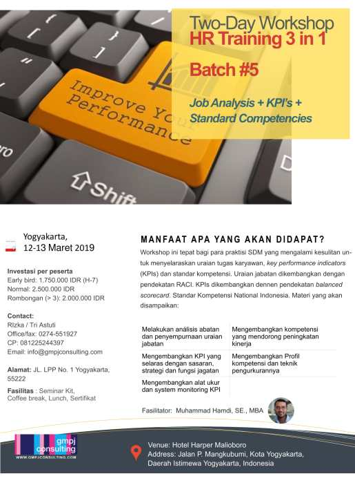 Workshop SDM 3 in 1_GMPJ2019
